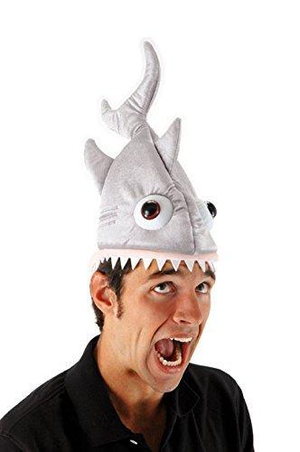 Haifisch Kostüm Kopf - Elope Hai-Mütze für Kinder und Erwachsene