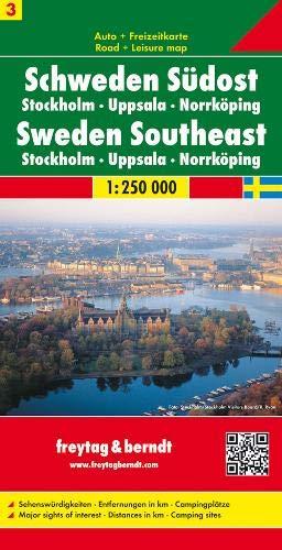 Freytag Berndt Autokarten, Schweden Südost - Stockholm - Uppsala - Norrköping, Blatt 3 - Maßstab 1:250.00 (Landkarte Schweden)