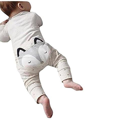 Bekleidung Jungen Xinan Harem Pants Fox Molding Baby Hose (80, Grau)