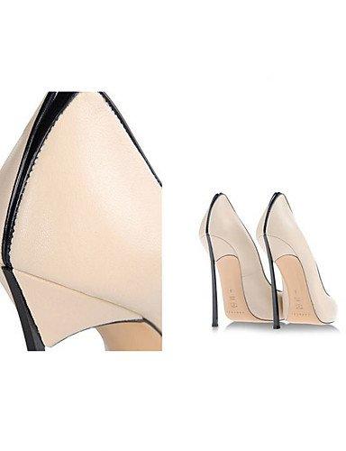 WSS 2016 Chaussures Femme-Bureau & Travail / Habillé / Soirée & Evénement-Noir / Blanc / Gris / Amande-Talon Aiguille-Talons / Bout Pointu-Talons- black-us11.5 / eu43 / uk9.5 / cn45