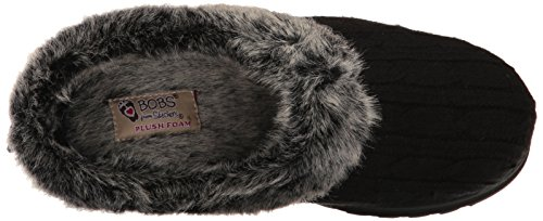 Souvenirs De Bobs Skechers Glace 31204 Pantoufles D'ange Noirs Noir