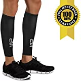 Calf Leg Compression Sleeves by Modetro Sports -Shin Splints, Circulation & Leg Cramp Compression Support Sleeve - Running, Jogging, Cycling, Fitness & Exercise Enhanced Performance - Men & Women