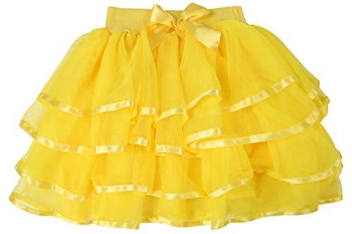 storeofbaby Baby Tutu Rock für Mädchen Abendtanz Pettiskirt Urlaub Kostüm Gelb (Urlaub Kostüm Kinder)