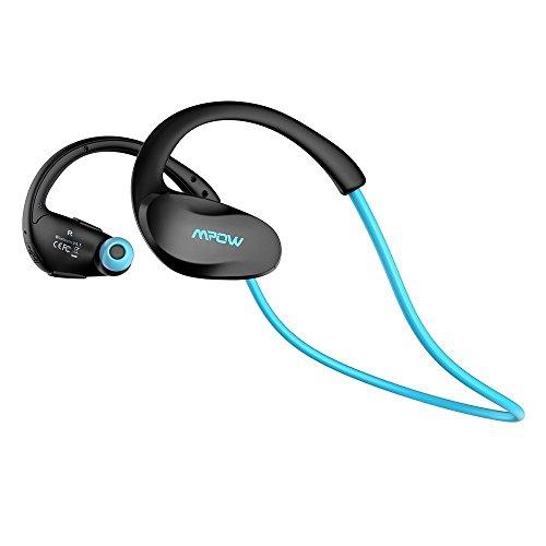 Mpow Cheetah Oreillette Bluetooth 4.1 stéréo sans fil Casque Bluetooth écouteurs de Course Oreillette D'exercice avec Microphone, Technologie de pointe AptX, Jogger pour appareils Bluetooth-Bleu