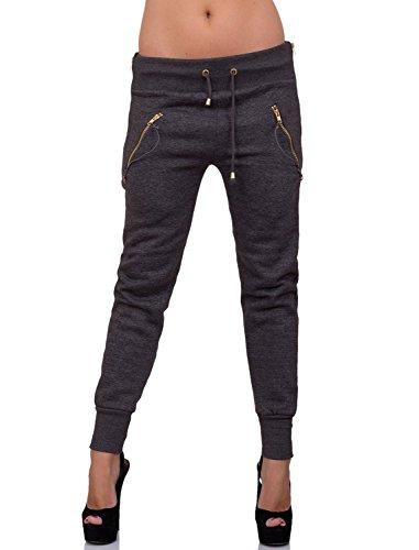 GIOVANI & RICCHI - Pantalon de sport - Femme - Dunkel-Grau