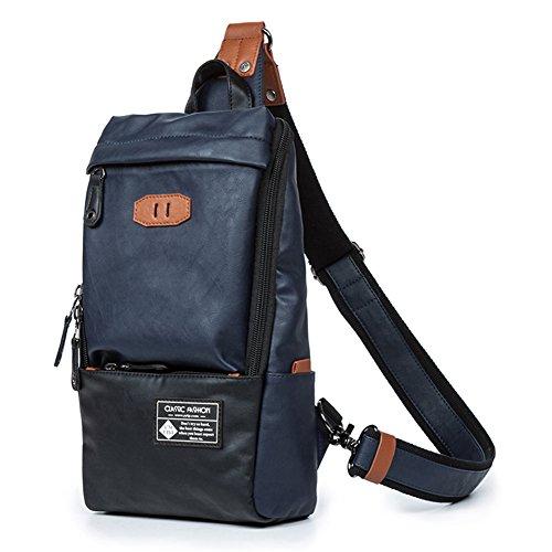 Everdoss , Zaino Casual  Uomo Blue Taglia (Flap Satchel Handbag)