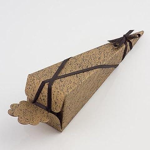 Cajas del favor de la boda del cono - Oro Negro (PK 10 en embalaje plano, sin decoraciones)