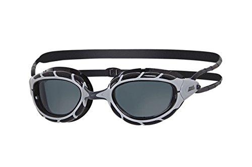 Zoggs Predator–Gafas de natación, todo el año, unisex, color plateado y negro, tamaño talla única