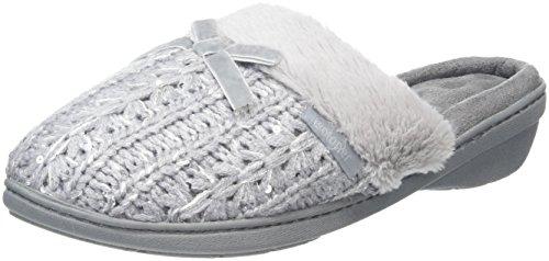 isotoner-women-sparkle-knit-pillowstep-open-back-slippers-grey-grey-6-uk-39-eu