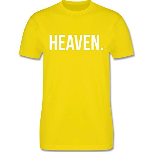 Statement Glaube Religion - Heaven Himmel weiss - Herren T-Shirt Lemon Gelb
