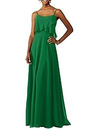 Charmant Damen Elegant Hundkragen Abendkleider Brautjungfernkleider  Partykleider Festlichkleider A-Linie Rock 7773293d2a