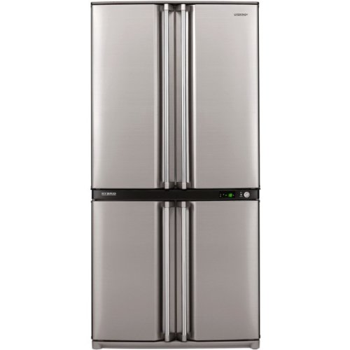 Sharp SJ-F790STSL Freestanding 605L A+ Stainless steel side-by-side refrigerator - Side-By-Side Fridge-Freezers (Freestanding, Stainless steel, French door, Halogen, LED, 605 L)