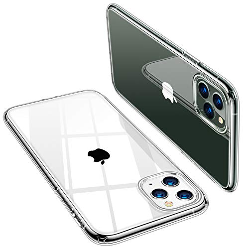 TORRAS Crystal Clear iPhone 11 Pro Max Hülle [Anti Gelb & Dünn] Weiche Silikon Clear iPhone 11 Pro Max Case Stoßfest TPU Handyhülle für iPhone 11 Pro Max - Transparent -