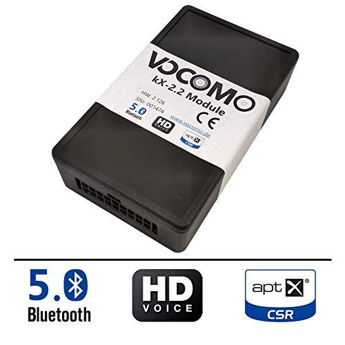 VOCOMO kX-2 Kit Mains Libres Bluetooth pour BMW Série 1 (E81,E82,E87,E88), Série 3 (E90,E91,E92,E93), 5/6 (E60,E61,E63,E64), Z4 (E89), X1 (E84), X5/6 (E70,E71), Mini (R55,R56,R57,R58,R59,R60,R61)