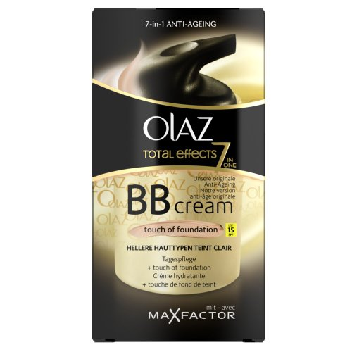 Olaz Total Effects BB Cream Touch of Foundation mit LSF 15, hellere Hauttypen, 50ml