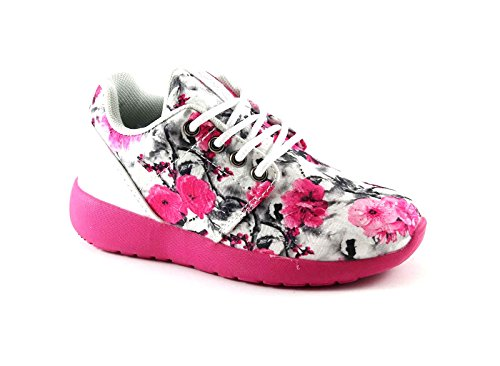 PRIMIGI 72884 bianco rosa scarpe bambina lacci sneaker basse fantasia 35