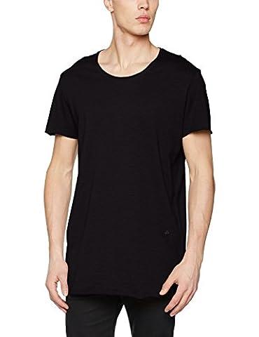 JACK & JONES Jorbas Tee Ss U-Neck Noos, T-Shirt Homme, Noir (Black Fit:Reg), X-Large