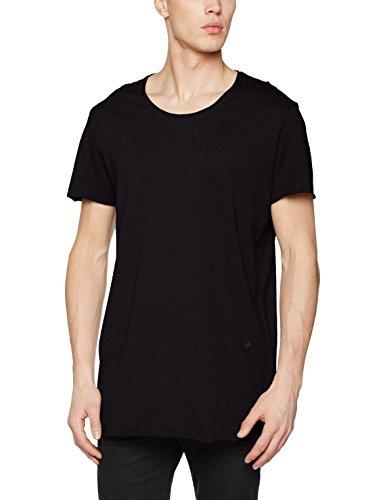 JACK & JONES Herren T-Shirt Jorbas Tee SS U-Neck Noos, Schwarz (Black Fit:Reg), Large