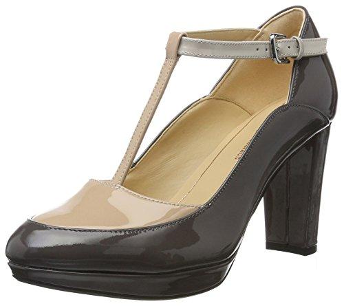 Clarks Kendra Daisy, Zapatos de Tacón para Mujer, Gris (Dark Grey Combi)