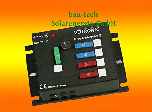 Votronic Plus Distributor 8 - 12V/24V - Verteiler für 6 abgesicherte Ausgänge von bau-tech Solarenergie GmbH