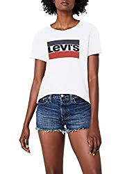 Levi's Damen The Perfect Tee T-Shirt, Weiß (White 297), Large
