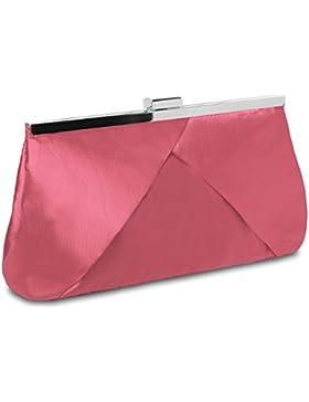 CASPAR klassische Damen Satin Clutch / Abendtasche in stylischem Design - viele Farben - TA320
