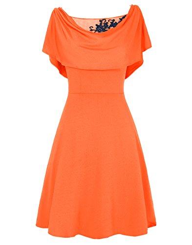 Dresstells Damen Abendkleider Homecoming Kleider Cocktail-Kleider Orange