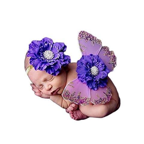 Baby-Foto Requisiten Neugeborene baby fotoshooting Fotografie Kostüm Blumen Stirnband Butterfly Wings -