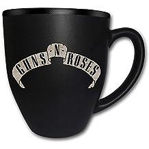 Guns N Roses–Taza de cerámica (–Logo–con grabado–caja de regalo