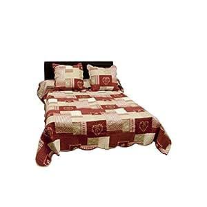 Couvre lit courchevel rouge 1 place
