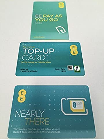 EE 4G PAYG Multi SIM - Includes Nano/Micro/Standard SIM - Unlimited Calls, Texts & Data- for Mobile Phones, Ipads, Tablets, Androids, Dongles & Other Wifi Device - Just Top Up & Keep Calling, Texting & Browsing- ONLY FROM > MOBILES DIRECTS COMMUNICATIONS