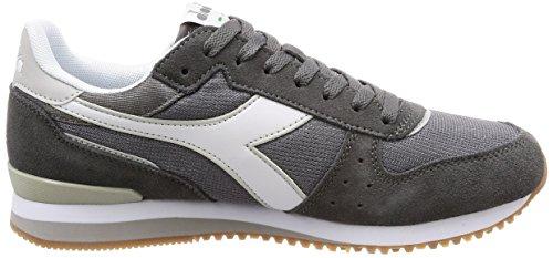 Diadora Malone, Sneaker Uomo Grigio (Gr Acciaio Gr Alluminio Bianco)