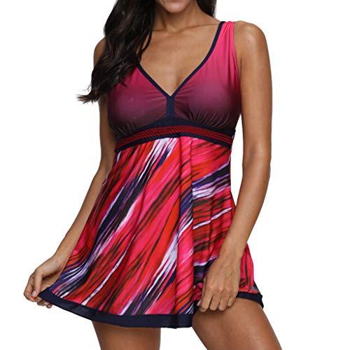 Frauen Sporttraining Badeanzug Badebekleidung Badeanzug Frauen Plus Size Gradient Tankini Badeanzug Badeanzug Beachwear Gepolsterte Badebekleidung