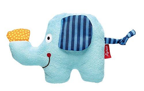 sigikid, Mädchen und Jungen, Mini-Greifling Elefant, Safari Tiere, Hellblau, 41968