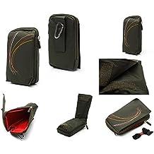 DFV mobile - Funda Multiusos Universal con Varios Compartimentos para Cinturon y Mosqueton para => NOKIA N800 TABLET > VERDE (16 x 9.5 cm)