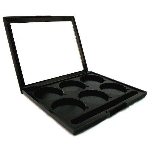 Nueva Pro Funda 6-Pan vacío paletas con espejo para maquillaje paletas maquillaje sombras sombra de ojos