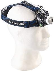 SOMIKON - Lampe frontale outdoor à LED avec caméra Full HD intégrée, IP44