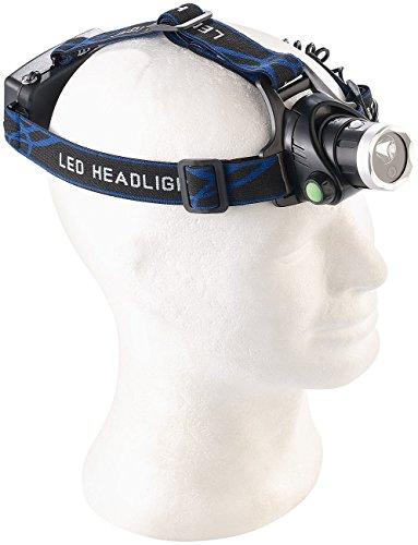 Somikon Stirnkamera: LED-Outdoor-Stirnlampe mit Full-HD-Kamera, IP44, 3 W (Knopfkamera)
