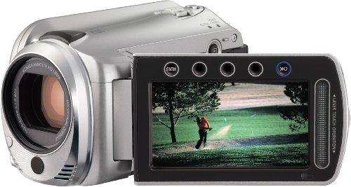 JVC GZ-HD 500 SEU Full-HD Festplatten-Camcorder (microSD-Kartenslots, 20-fach optisher Zoom, 6,9 cm Display, 80GB Festplatte, USB 2.0) silber