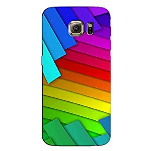 COLORFUL ABSTRACT LINES BACK COVER FOR SAMSUNG GALAXY S6 EDGE