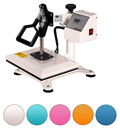 RICOO Transferpresse Power Zwerg-TW Druckfläche: 23x30cm Textildruckpresse Textilpresse Transfer Presse Thermopresse T-Shirtpresse Sublimationspresse geeignet für Flexfolie und Flockfolie || Shirt bedrucken günstig || Farbe: Verkehrsweiss