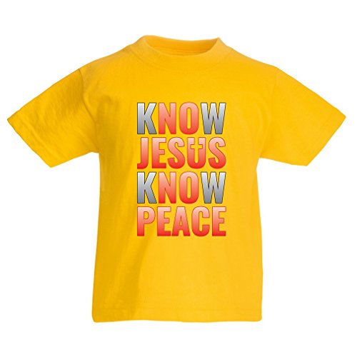 funny-t-shirts-for-kids-know-jesus-know-peace-christian-clothing-jesus-saves-t-shirt-5-6-years-yello
