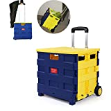 Miduohu Portable Folding Trolley Car Home Auto Aufbewahrungsbox Trunk Einkaufswagen, Um Ein Essen Zu Kaufen Cart Save Kleine Pull Cart Kann Sitzen,2,38 * 36 * 33Cm