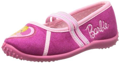 Barbie kids houseshoes BA550051, Pantofole Ragazza, Multicolore (Mehrfarbig (FUXIA/PINK)), 27