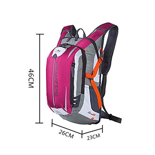 Freedom-vp Herren Damen Fahrradrucksack Trekking Wandernrucksack Wasserdicht sehr licht für Freizeit Uni Schule Radsport Radfahren Running Laufen JoggingRucksäcke Tasche Pink