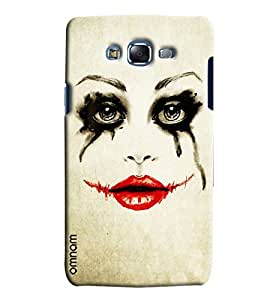 Omnam Girl Eyes Crying And Lips Smiling Printed Designer Back Case Samsung Galaxy J5