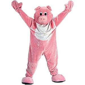 Carnival Toys 25902 - cerdo, hombres separado traje, cabeza y pies, Universal L-XXL