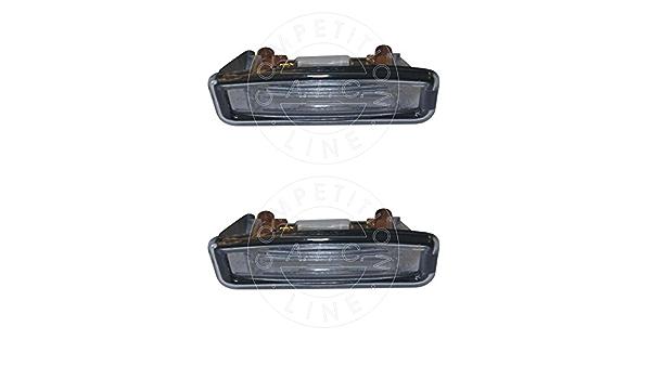 Aic Quality Set 2 X Kennzeichenbeleuchtung Nummernschildbeleuchtung Kennzeichenleuchte Kennzeichen Leuchte Komplett Mit Schrauben Glühlampe Und Dichtung Passend Für Daw Dbw Dfw Dnw Auto
