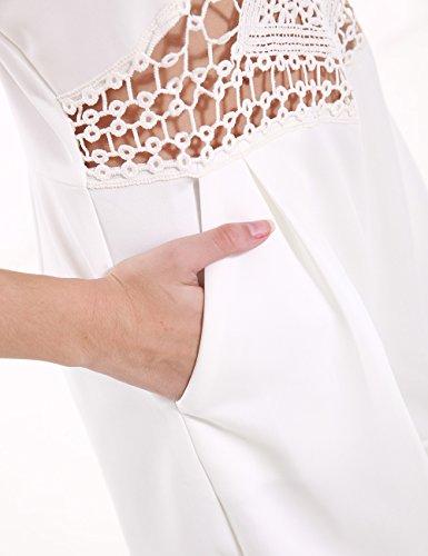 SunIfSnow - Combinaison - Asymétrique - Uni - Sans Manche - Femme Blanc