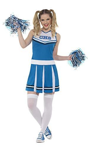123M Cheerleader Kostüm, blau, Medium, UK 12-14 ()